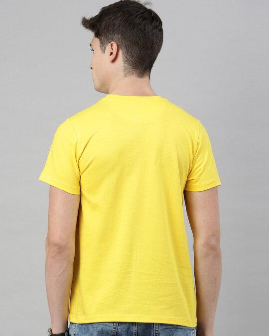 Shop Men's Yellow Organic Cotton Half Sleeves T-Shirt-Design