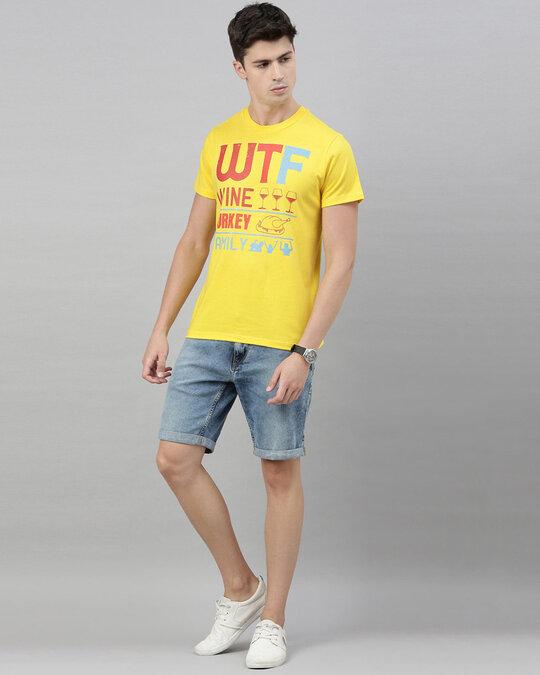 Shop Men's Yellow Organic Cotton Half Sleeves T-Shirt-Full