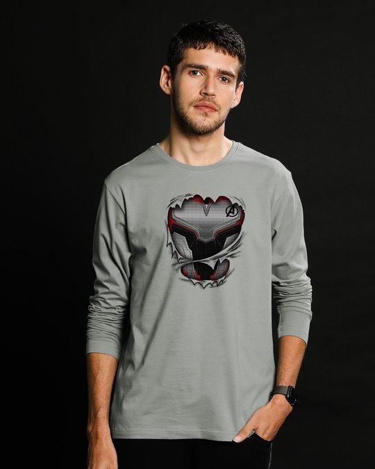 Shop Quantum Suit Full Sleeve T-Shirt (AVEGL)-Front