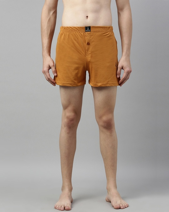 Shop Brown Solid Boxer-Front
