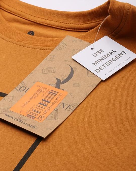 Shop Brown Typographic T Shirt