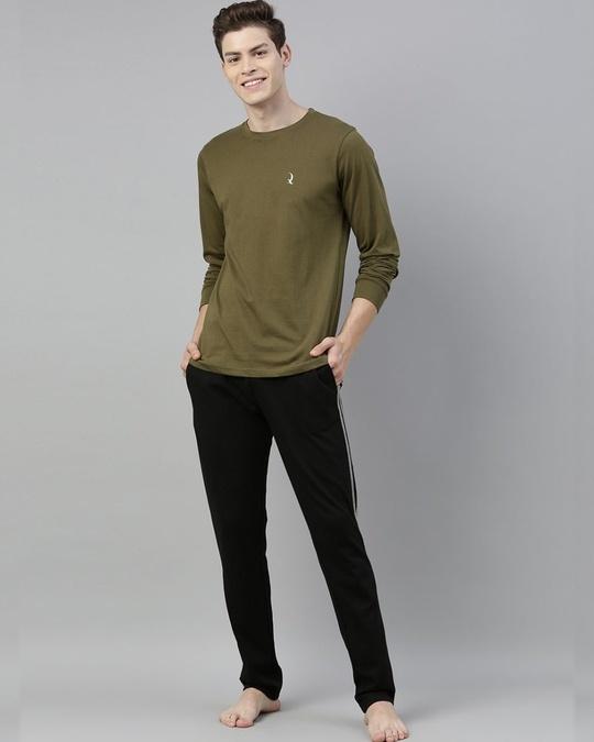 Shop Green Solid T Shirt