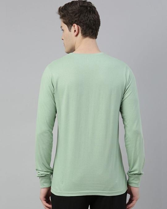 Shop Green Solid T Shirt-Back