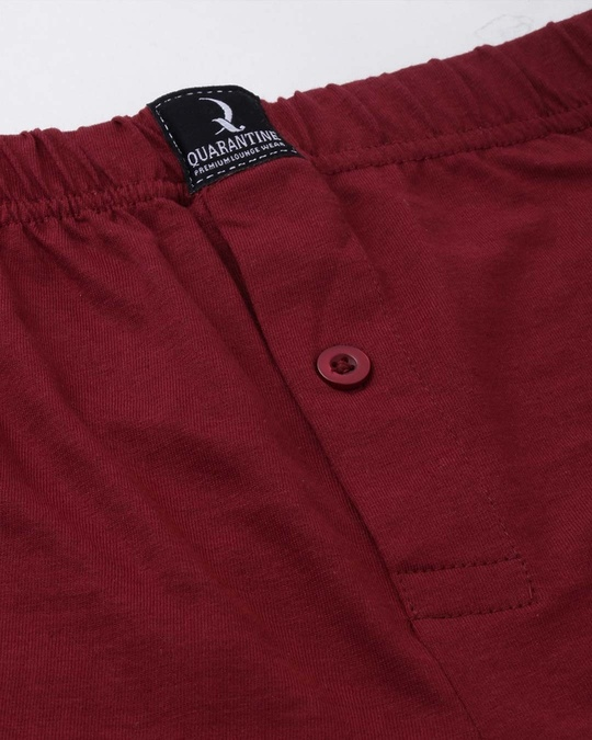 Shop Maroon Solid Boxer-Full