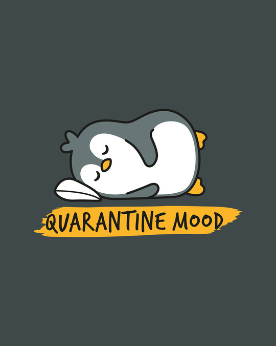 Shop Quarantine Mood Half Sleeve T-Shirt-Full