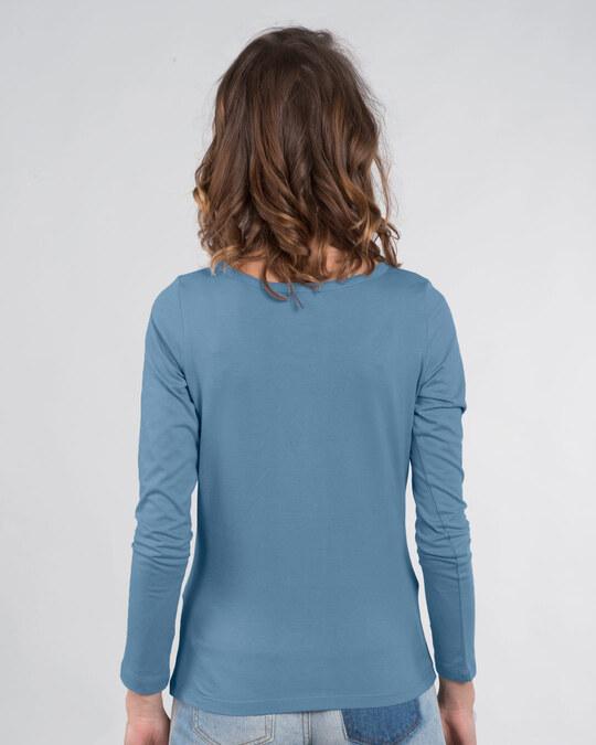 Shop Que Sera Sera Scoop Neck Full Sleeve T-Shirt-Back