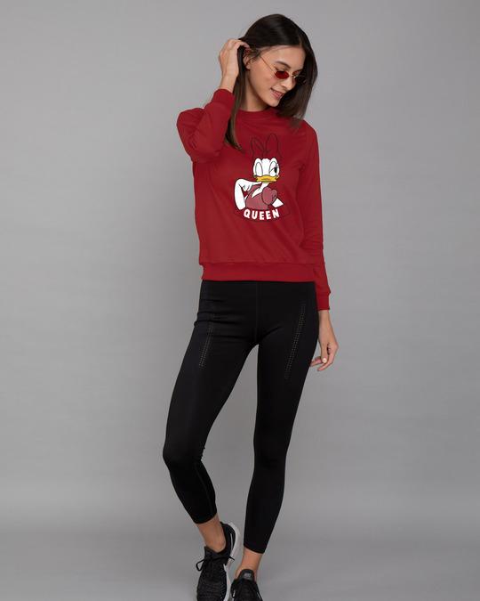 Shop Queen Daisy Fleece Light Sweatshirt (DL)-Design