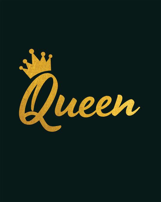 Shop Queen Gold Print Boyfriend T-Shirt