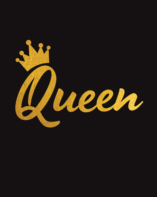 Shop Queen Gold Print Fleece Sweater