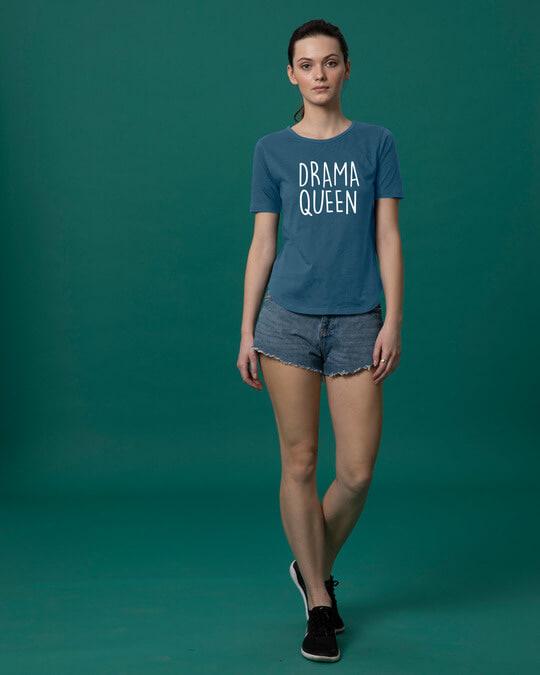 Shop Queen Of Drama Basic Round Hem T-Shirt