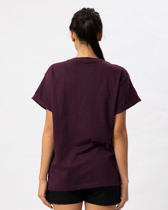 Shop Queen Pocket Print Boyfriend T-Shirt-Full