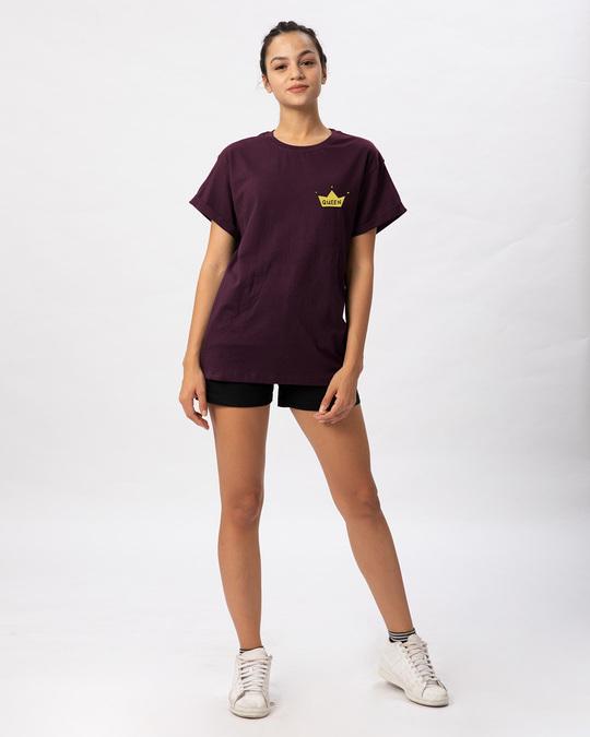 Shop Queen Pocket Print Boyfriend T-Shirt