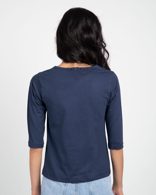 Shop Queens Are Born Round Neck 3/4th Sleeve T-Shirt-Back