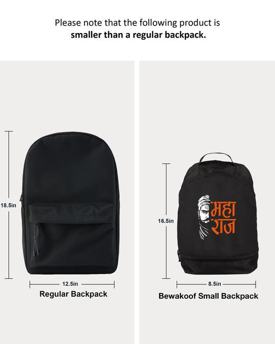 Shop Raaje Chatrapati Printed Small Backpack-Back