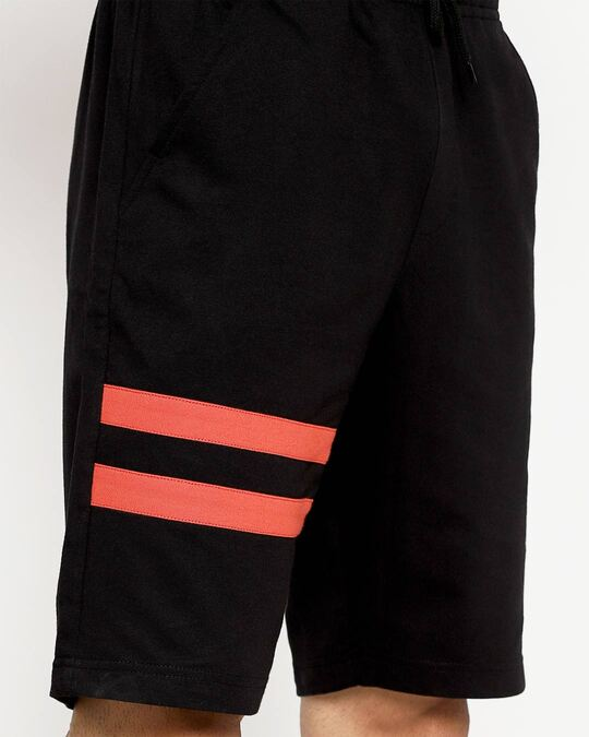 Shop Racing Stripes Men's Sports Trim Shorts