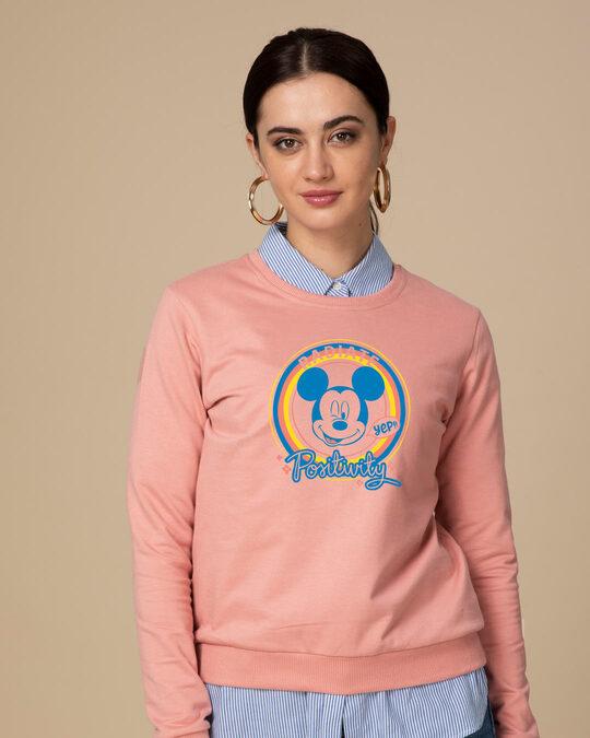 Shop Radiate Positivity Fleece Light Sweatshirts (DL)-Front
