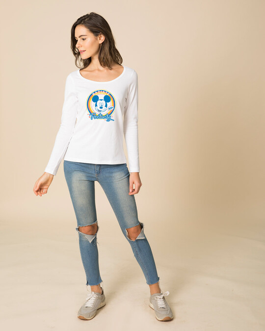 Shop Radiate Positivity Scoop Neck Full Sleeve T-Shirt (DL)-Design