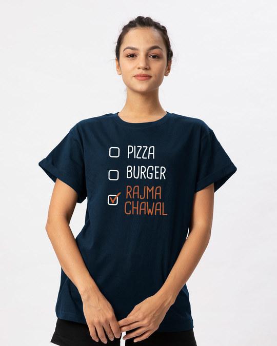 Shop Rajma Chawal Boyfriend T-Shirt-Front