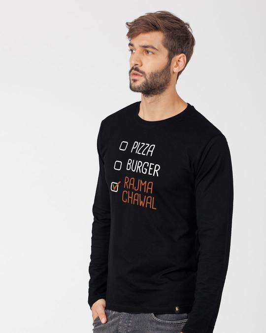 Shop Rajma Chawal Full Sleeve T-Shirt-Back