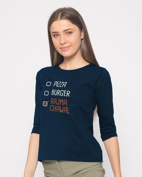 Shop Rajma Chawal Round Neck 3/4th Sleeve T-Shirt-Back