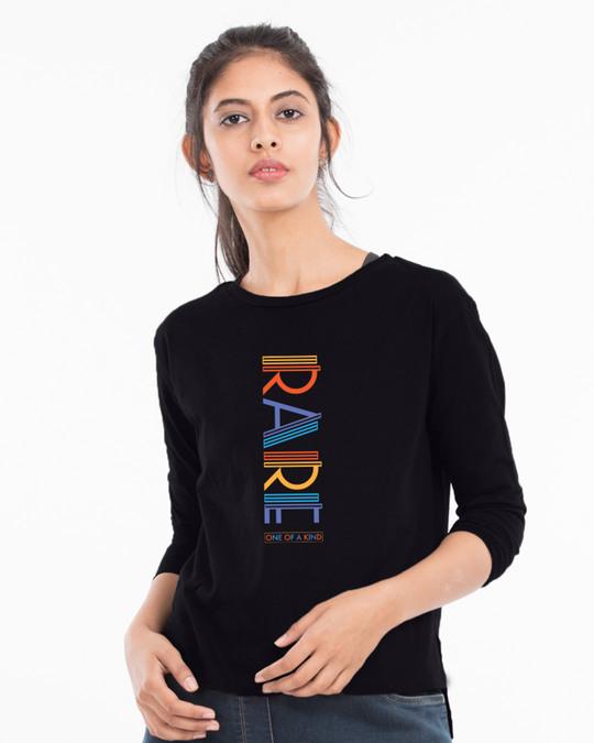 Shop Rare AF Full Sleeves T Shirt Black-Back