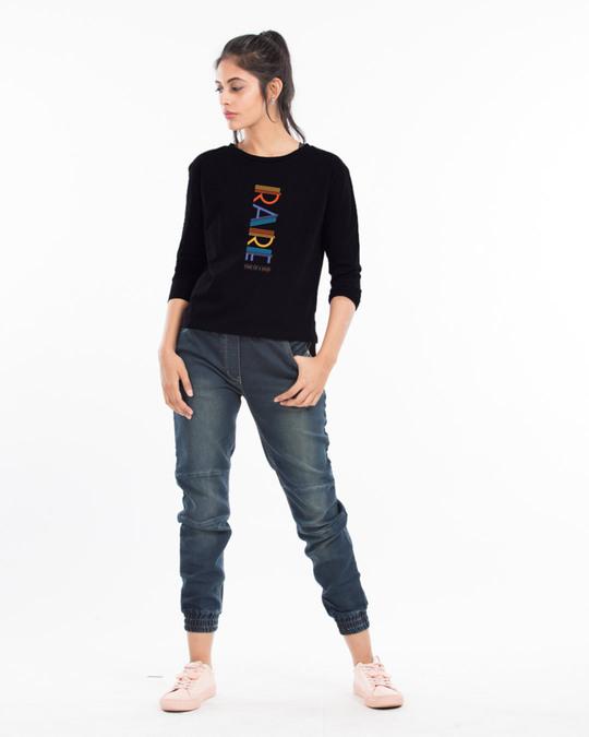 Shop Rare AF Full Sleeves T Shirt Black-Full
