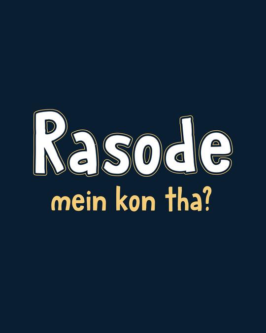 Shop Rasode Me Kon Tha Boyfriend T-Shirt Navy Blue-Full
