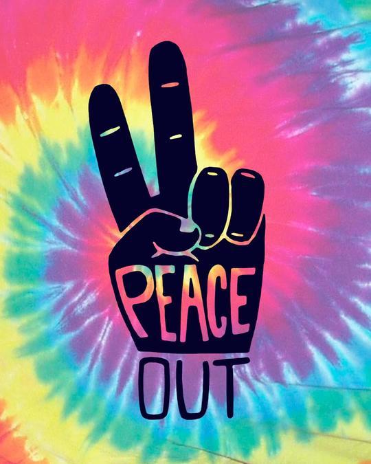 Shop Rasta Peace Hand Half Sleeve T-Shirt
