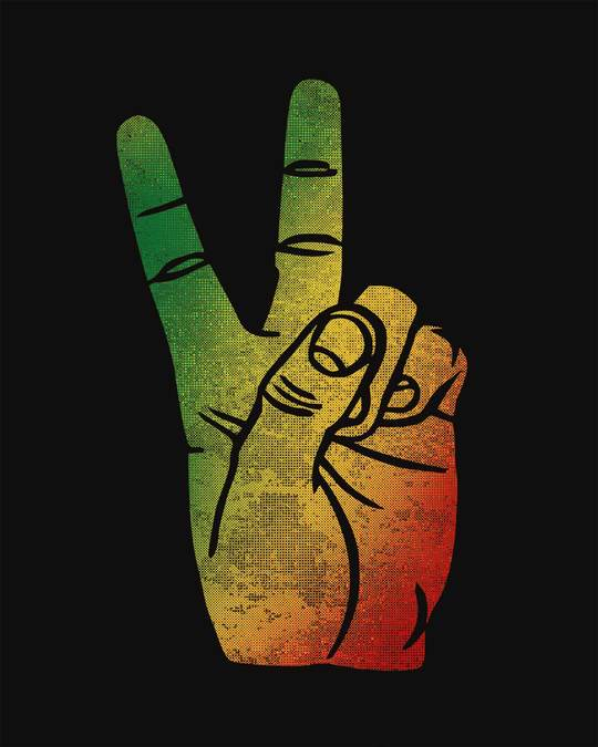 Shop Rasta Peace Hand Vest