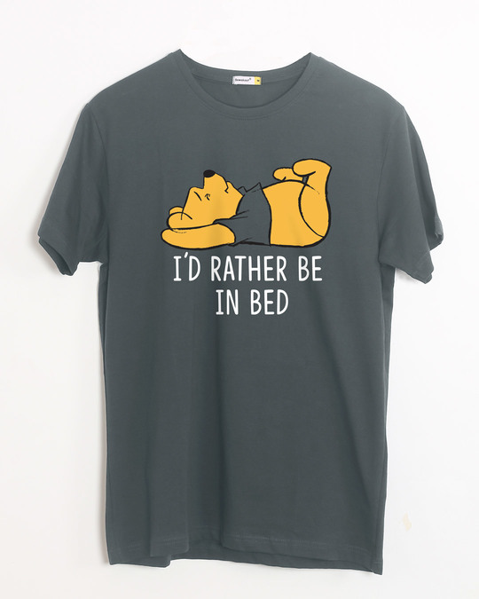 Shop Rather Be In Bed Half Sleeve T-Shirt (DL)-Front