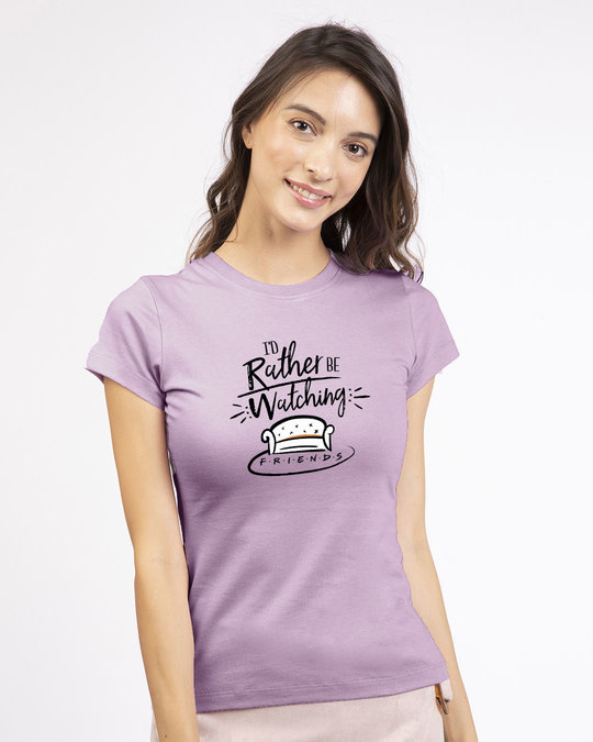 Shop Rather Be Watching Friends Half Sleeve T-shirt (FRL)-Back