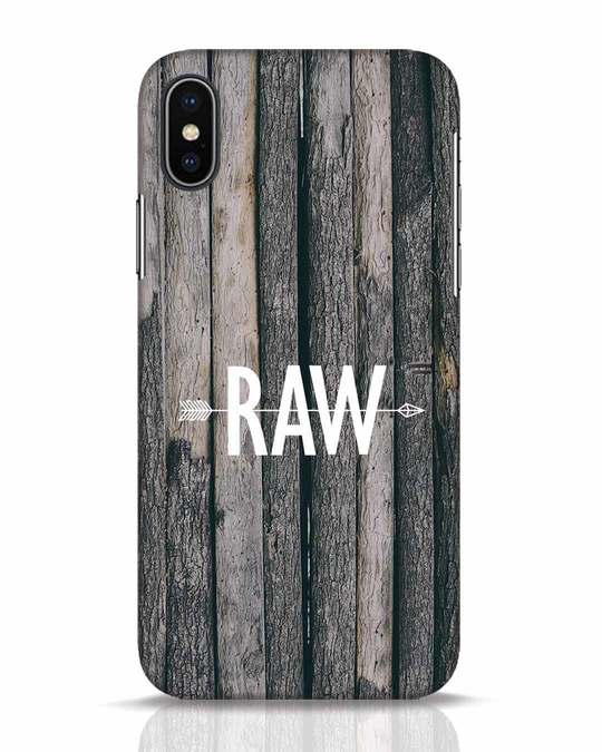 Shop Raw iPhone X Mobile Cover-Front