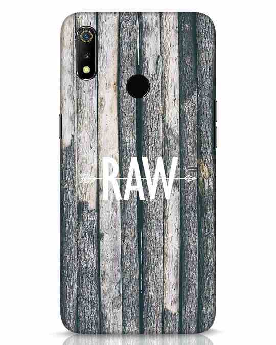 Shop Raw Realme 3 Mobile Cover-Front