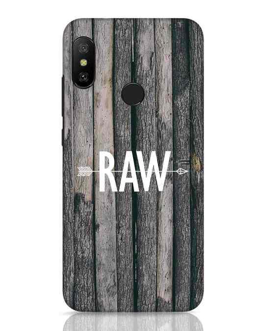 Shop Raw Xiaomi Redmi 6 Pro Mobile Cover-Front