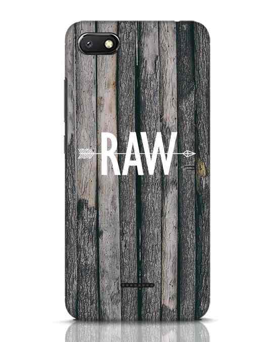 Shop Raw Xiaomi Redmi 6A Mobile Cover-Front