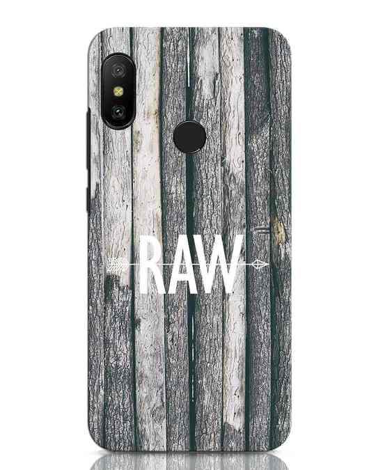 Shop Raw Xiaomi Redmi Note 6 Pro Mobile Cover-Front
