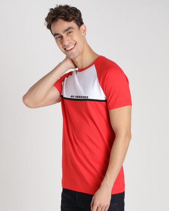 Shop Re Imagined Color Block T-Shirt-Back