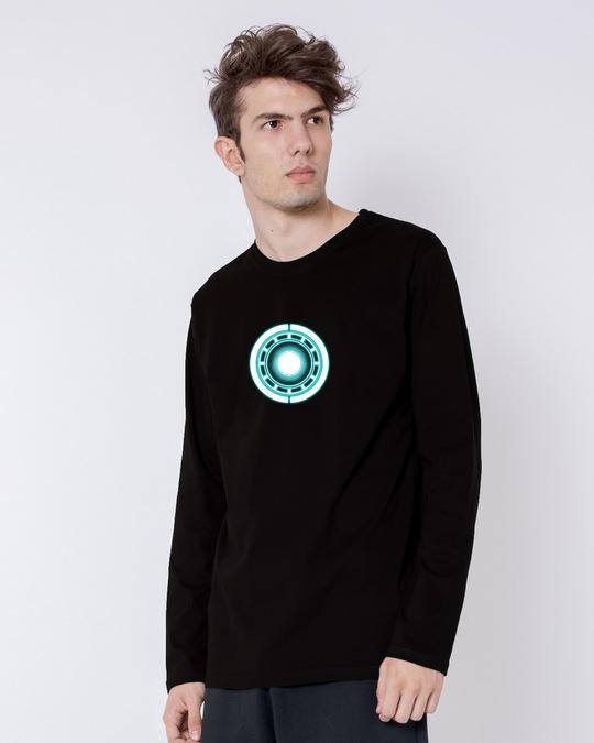 Shop Real Arc Reactor Full Sleeve T-Shirt (AVL) (GID)-Back