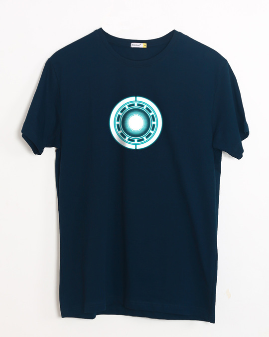 Shop Real Arc Reactor Half Sleeve T-Shirt (AVL) (GID)-Front