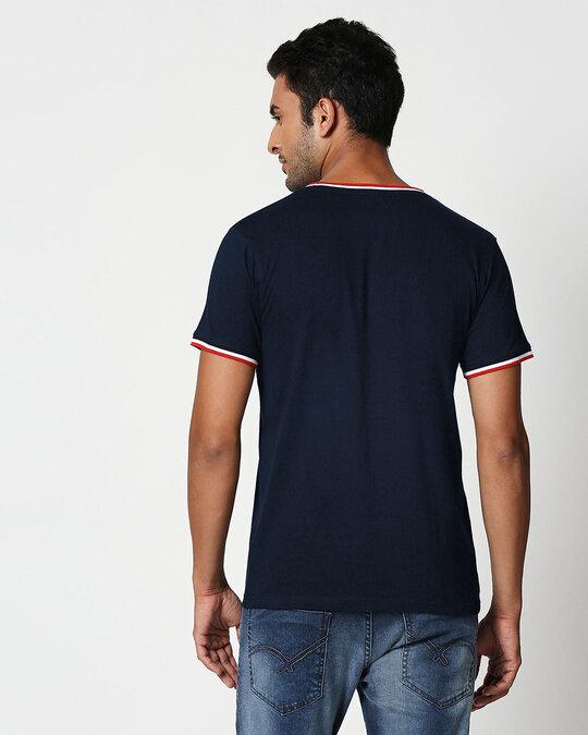 Shop Real Not Perfect Crewneck Varsity Rib H/S T-Shirt Multicolor-Back