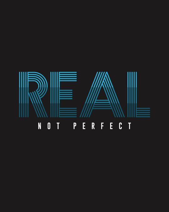 Shop Real Not Perfect Half Sleeve T-shirt Black-Full