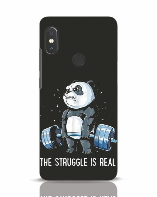 Shop Real Struggle Xiaomi Redmi Note 5 Pro Mobile Cover-Front