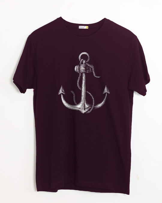 Shop Realistic Anchor Half Sleeve T-Shirt-Front