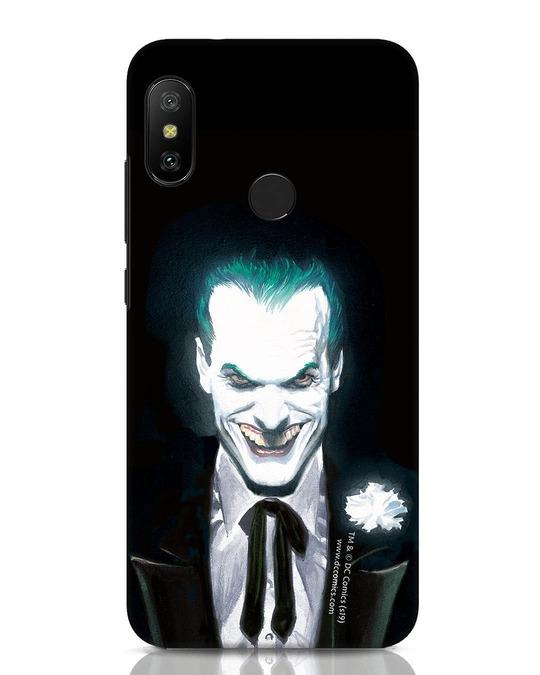 Shop Realistic Joker Xiaomi Redmi Note 6 Pro Mobile Cover (BML)-Front