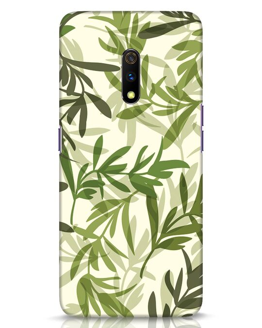 Shop Realistic Leafs Realme X Mobile Cover-Front