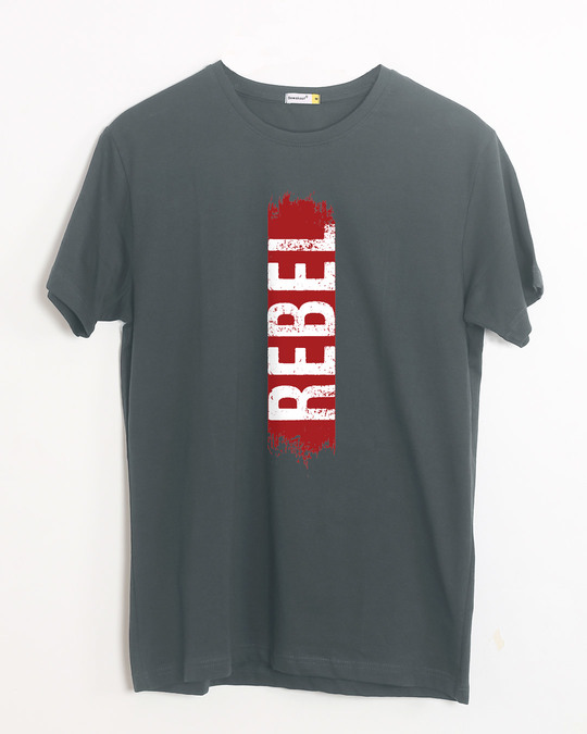 Shop Rebel Side Half Sleeve T-Shirt-Front