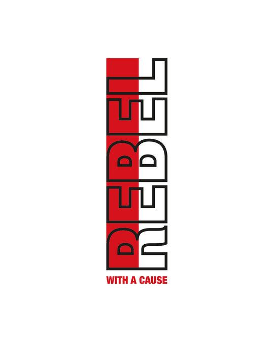 Shop Rebel Stripe Half Sleeve Hoodie T-shirt White-Full