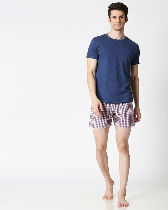 Shop Red and Blue Checks Men's Boxers
