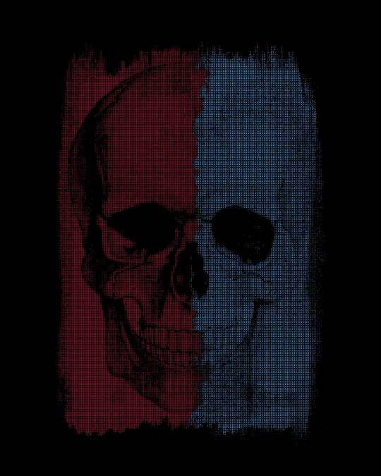 Shop Red And Blue Half Sleeve T-Shirt