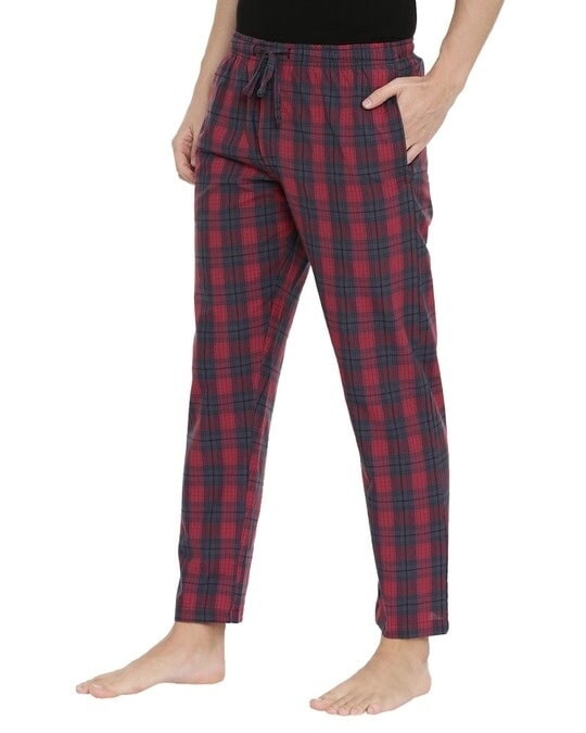 Shop Joven | Red and Grey Checked Pyjamas-Back